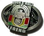 Rock n Roll Legend Jukebox Belt Buckle with display stand. Product code: TC4